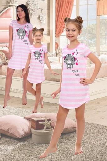 Сорочка Русалка детская (Розовый) - Фаина