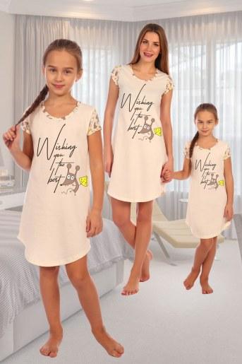 Сорочка Бунтарка детская (Экрю) - Фаина