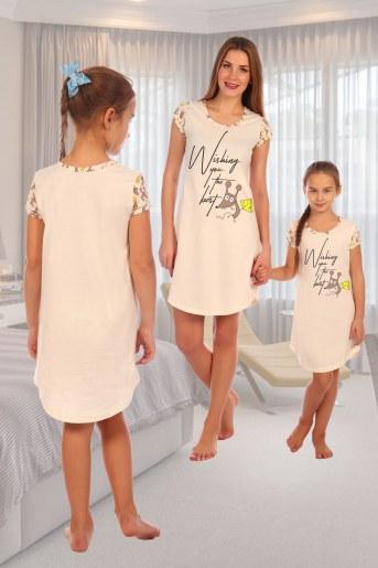 Сорочка Бунтарка детская (Экрю) (Фото 2)