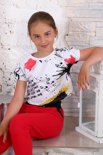 Футболка 15025 детская (Белый) - Фаина