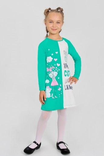 Платье Праздник детское (Изумруд) - Фаина