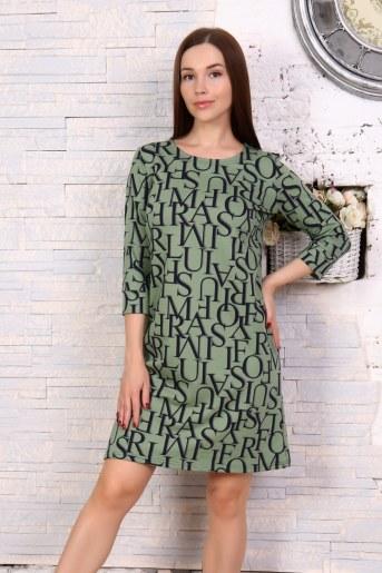 Платье 10503 (Хаки) - Фаина