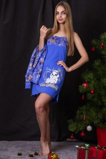 Сорочка 7189 (Голубой) - Фаина
