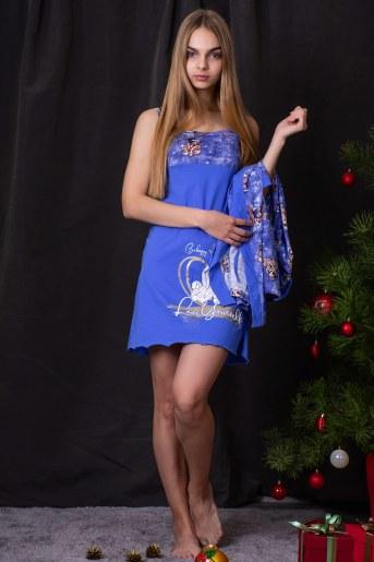 Сорочка 7189 (Голубой) (Фото 2)